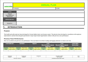 Planning for workplace safety custom safety engineering for Ohs management plan template